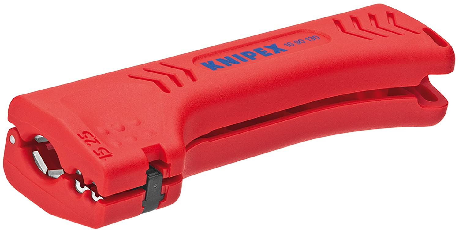 Knipex 16 90 130 SB Universal Dismantling Tool for Building and Industrial Cables 130 mm (Blister Packed), Multi-Colour