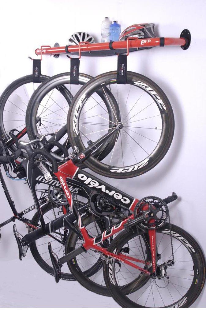 76ac60169a8 Amazon.com: VeloGrip Urban Modern Storage 3-Bike Rack - 3 Loft White: Home  & Kitchen