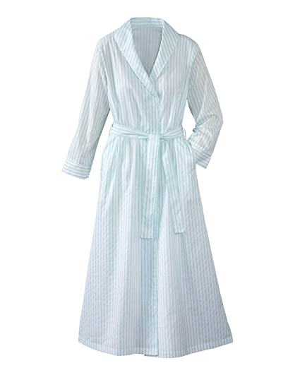 National Flannel Striped Wrap Robe - Flannel Misses at Amazon ... 9aa6a452e