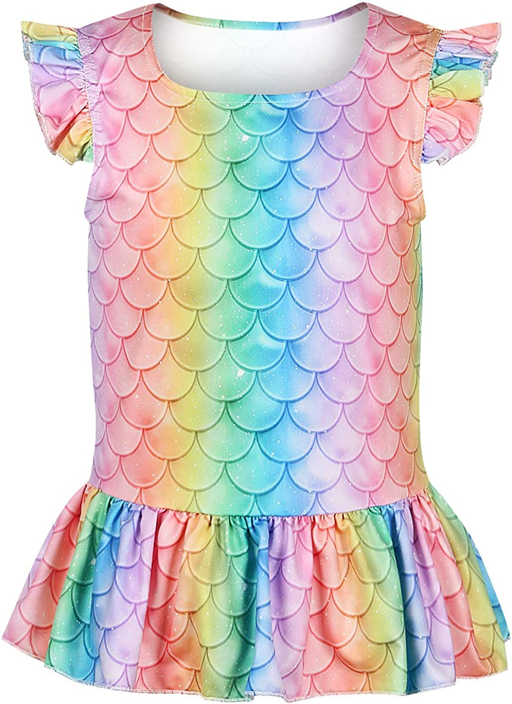 Ocean Plus Niña Camisa con Estampado Digital de Escamas de Pescado ...