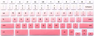 """Keyboard Protective Skin Compatible with 2017 2018 Newest Samsung ARM 11.6"""" Chromebook 2 XE500C12 & Samsung Chromebook 3 XE500C13 XE501C13 11.6 inch (Not fit 12.3"""" Samsung Chromebook Plus) Ombre Pink"""