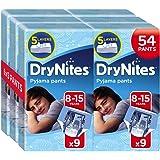 Drynites Mutandine Assorbenti per la Notte da Bambino, 27-57 Kg, 6 Confezioni da 9 Pezzi