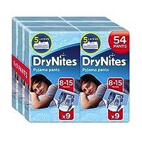 Huggies DryNites Pyjama Pants for Boys, Age 8-15 (54 Pants Total)