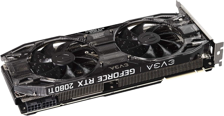 EVGA 11G-P4-2281-KR, Tarjeta gráfica (GeForce RTX 2080 Ti, 11 GB, GDDR6, 352 bit, 7680 x 4320 Pixeles, PCI Express 3.0), Negro