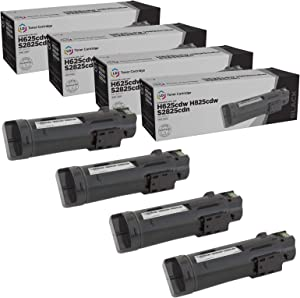 LD Compatible Toner Cartridge Replacement for Dell 593-BBOW N7DWF (Black, 4-Pack)