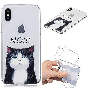 coque iphone x chat noir