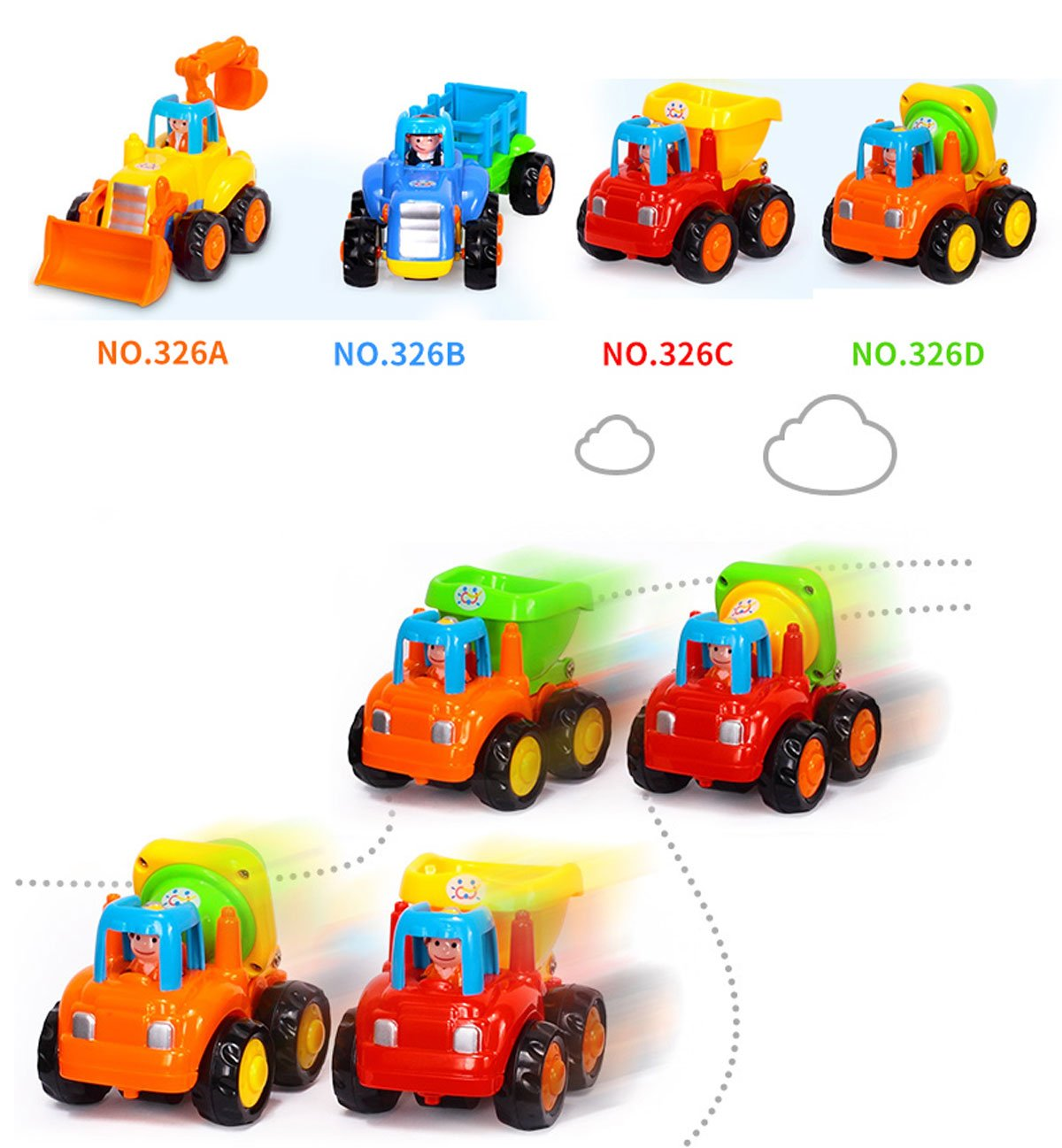 Toy Sets For Boys : D mcark early educational toddler baby toy push and go