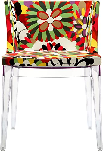 Modway Flower Vintage Modern Acrylic Upholstered Fabric Kitchen and Dining Room Chair