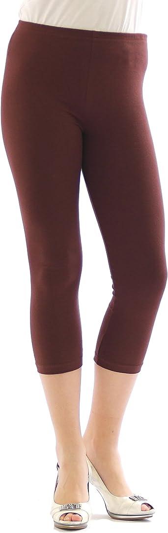YESET para Mujer 3/4 Capri Leggins algodón S Brown: Amazon.es: Ropa y accesorios