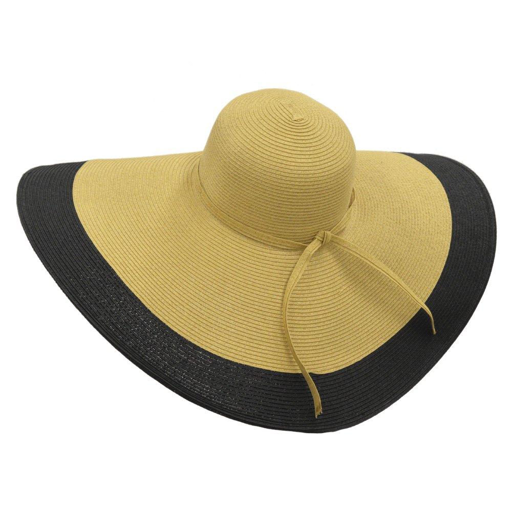28cf12a91bb Amazon.com  RPI Huge Straw Floppy Sun Hat