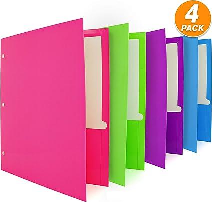 Emraw - Carpeta de 2 bolsillos personalizable para 3 carpetas de anillas con dientes, varios colores, portafolio para negocios para papeles y tarjetas de oficina: Amazon.es: Oficina y papelería