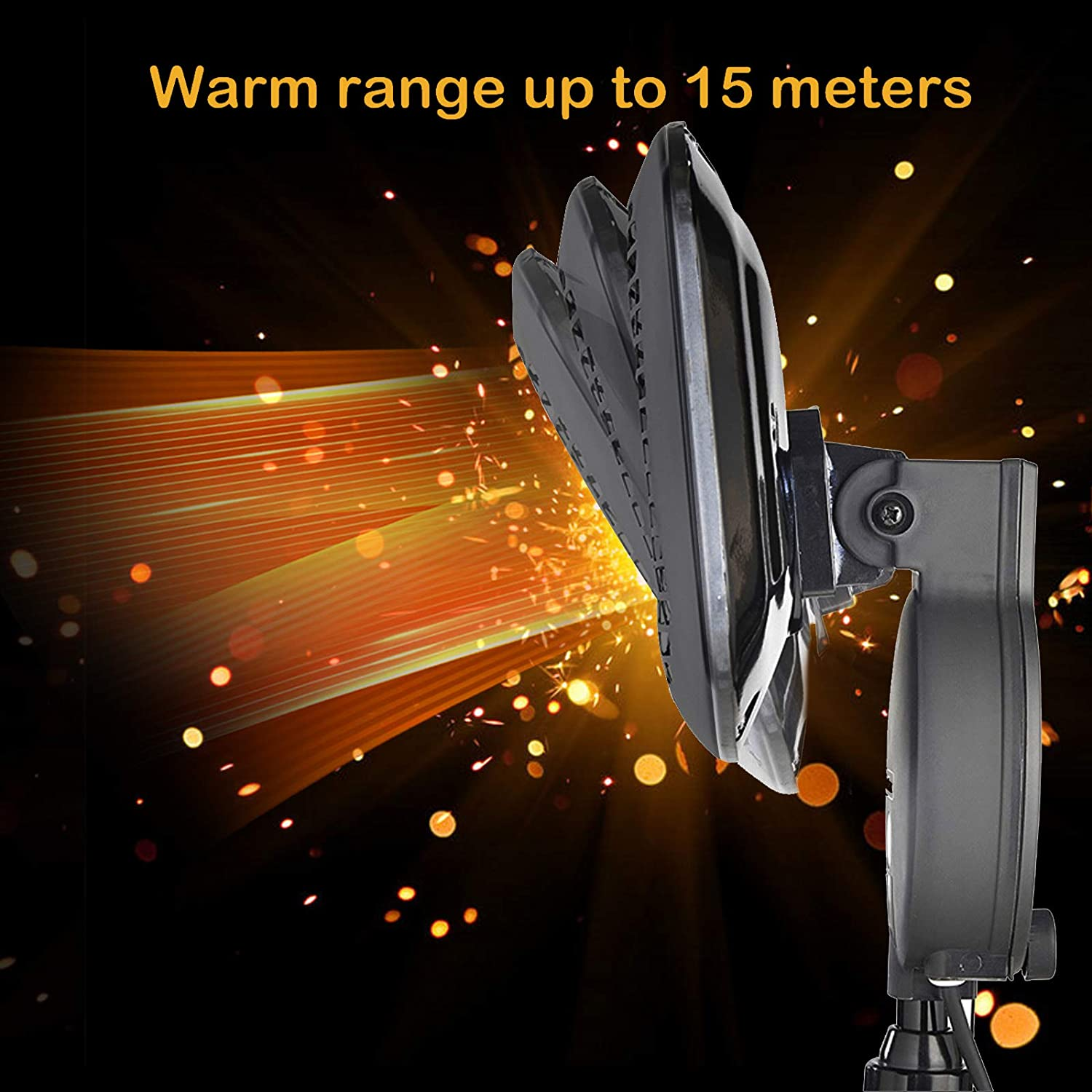 Electric Patio Heater Freestanding Space Heater for Courtyard Garage Electric Outdoor Patio Heater