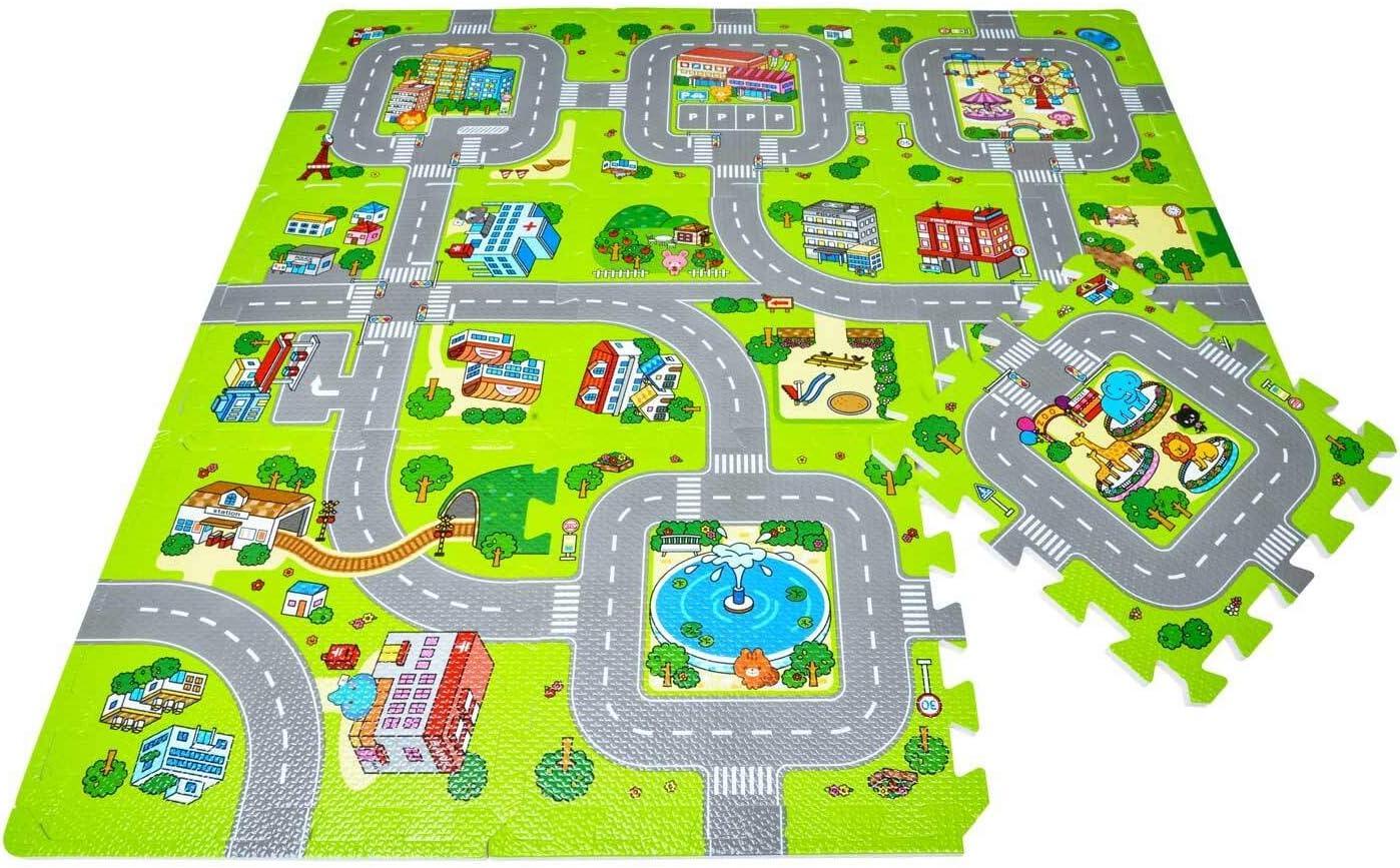 Leo & Emma Juegos de Calle Alfombras de Puzzle Alfombras de Puzzle Alfombras de Puzzle Alfombras de Suelo Alfombras de Puzzle 9 Piezas a 30 x 30cm