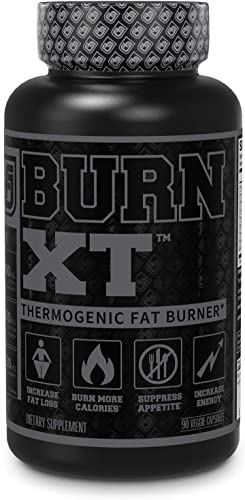 Burn XT Black Thermogenic Fat Burner – Weight Loss Supplement, Appetite Suppressant, Nootropic Energy Booster W TeaCrine – Premium Acetyl L-Carnitine, Green Tea Extract, Capsimax – 90 Veg Diet Pills