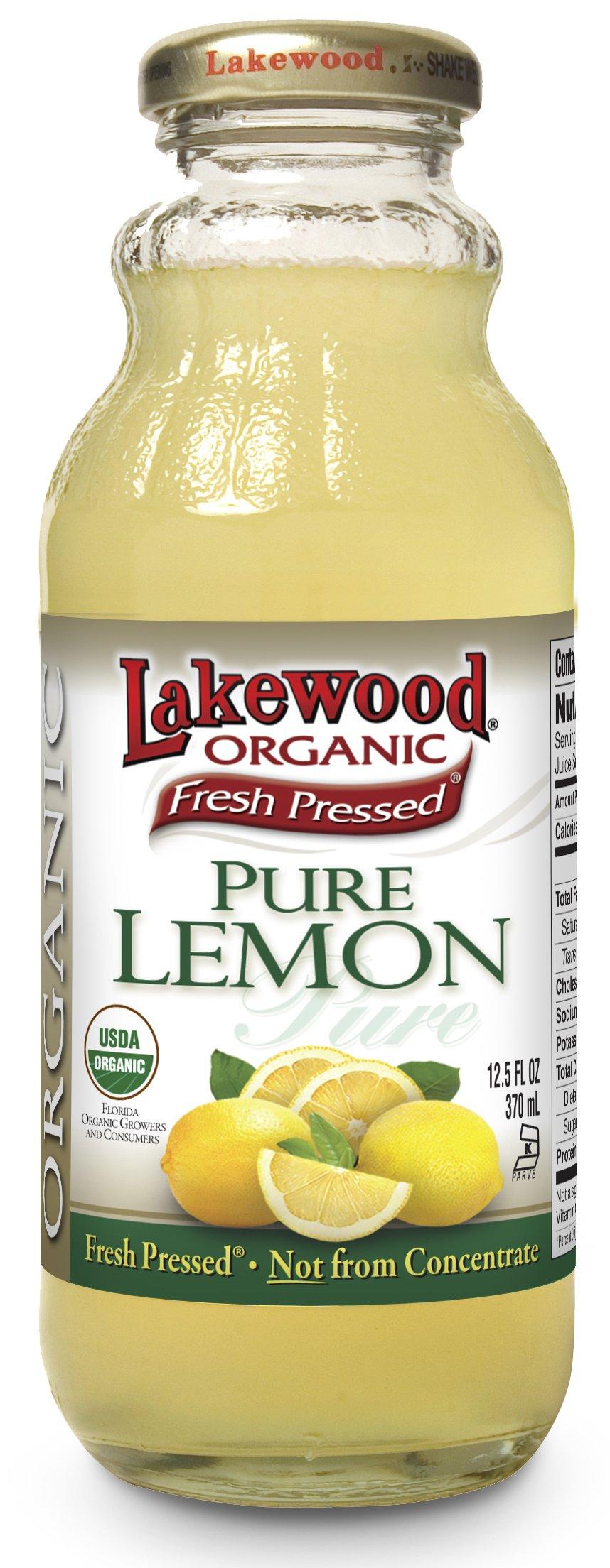 Lakewood Organic PURE Lemon, Fresh Pressed (12.5 oz, 12 pack)