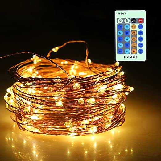 InnooLight Catena Luminosa 20m+1,5m 200 Led IP65 Luci Natale Impermeabile  Strisce Luci