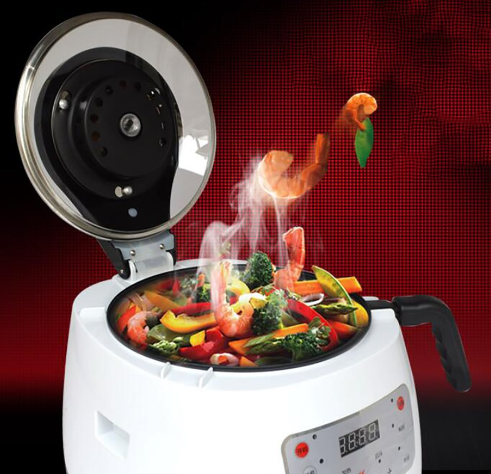SHANGXIAN Electric Woks,Automatic Intelligent Cooking Pot,Smokeless