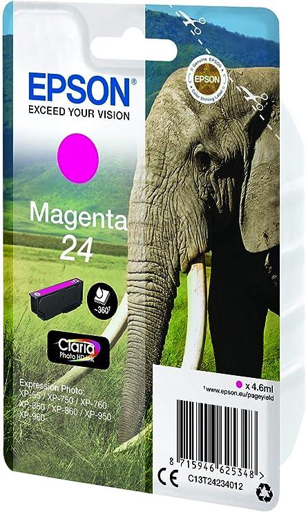 Epson Original 24 Ink Elephant Xp 750 Xp 850ß Xp 950 Xp 55 Xp 760 Xp 860 Xp 960 Bürobedarf Schreibwaren