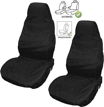 SEAT LEON MK2 2 x Fronts Heavy Duty Black Waterproof Car Seat Covers