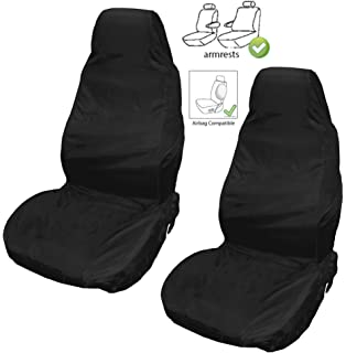 Town /& Country Single 3D Black Universal Front Seat Cover