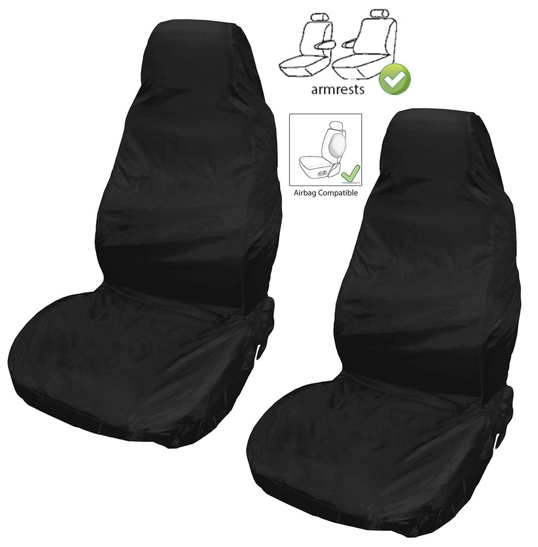Heavy Duty Black Waterproof Car Seat Cover Single