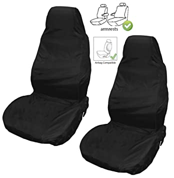 XtremeAutoR Front Waterproof Heavy Duty Durable Universal Seat Covers 2