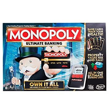 Monopoly Game: Ultimate Banking Edition Board Game, Electronic Banking Unit, Game For…