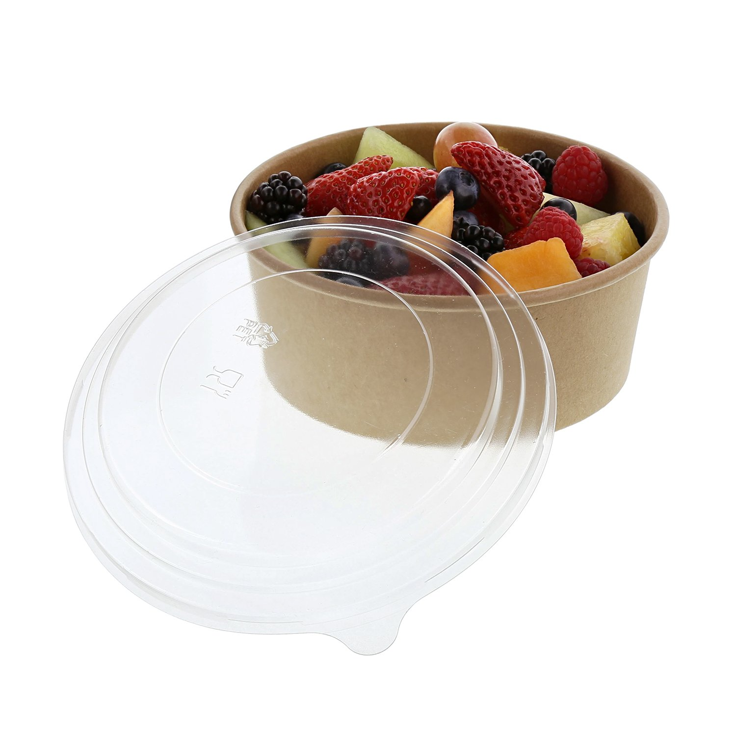 24 OZ Kraft Bowls with Lids, Case of 150