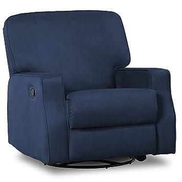 Superieur Delta Children Caleb Nursery Recliner Glider Swivel Chair, Navy