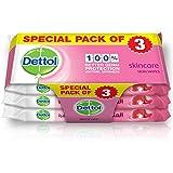 Dettol Skincare Anti-Bacterial Skin Wipes - Pack Of 10, 2+1 Free