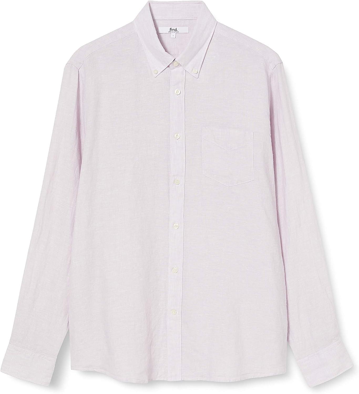 Marca Amazon - find. Regular Linen - Camisa Hombre: Amazon.es: Ropa y accesorios