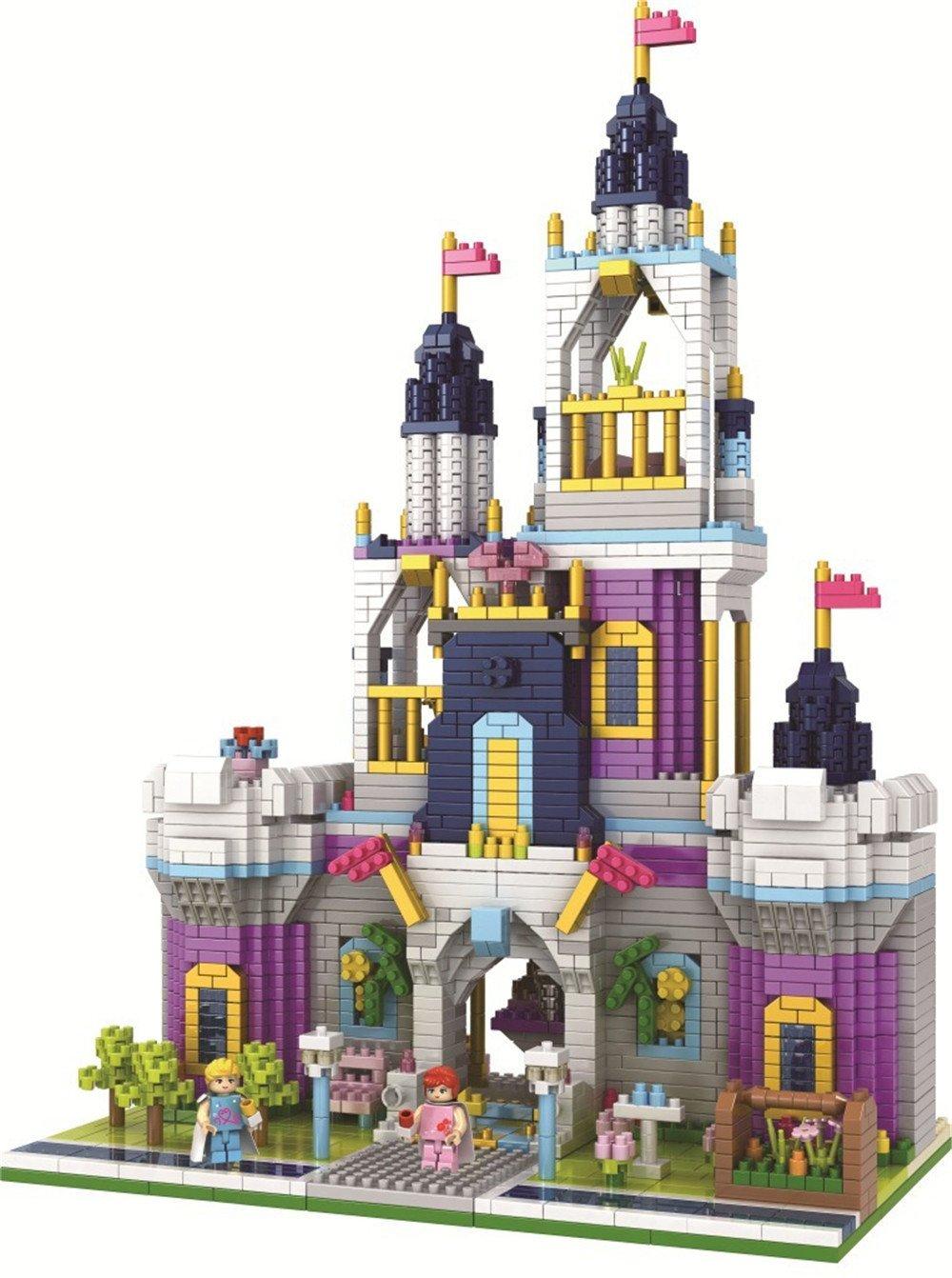 PZX Girls Blocks Princess Castle Toys for Girls Pink Palace Building Block Bricks Toys Construction Set for Kids 2800 Pcs