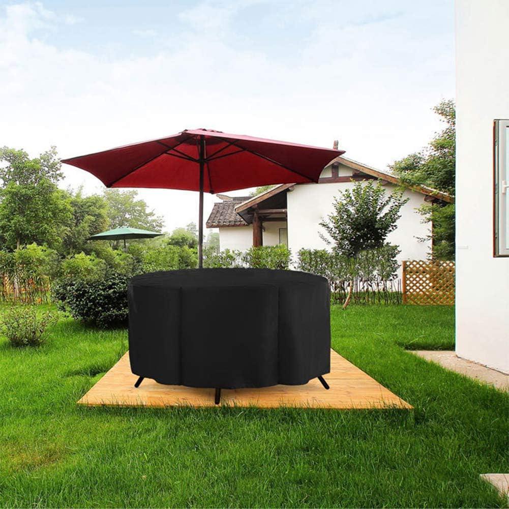 Fgasad, copertura rotonda per scrivania per patio, resistente, impermeabile, grande protezione contro la polvere per tutte le condizioni atmosferiche Nero B