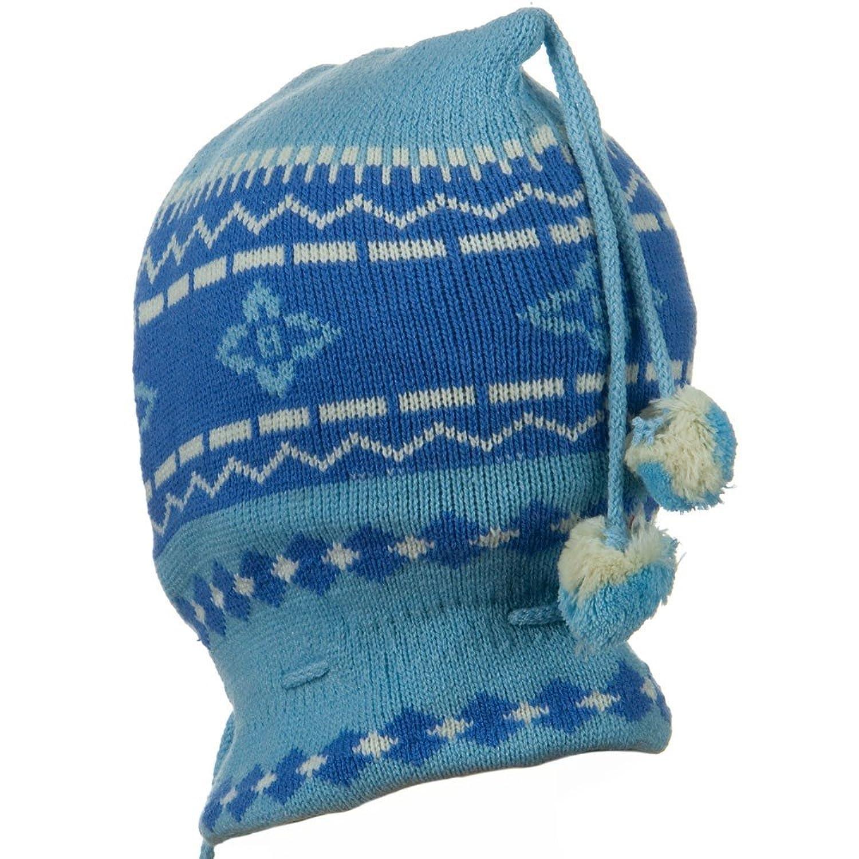 160ecf9f870 Amazon.com  Children Zigzag Pattern Ski Mask - Blue OSFM  Balaclavas  Headwear  Clothing