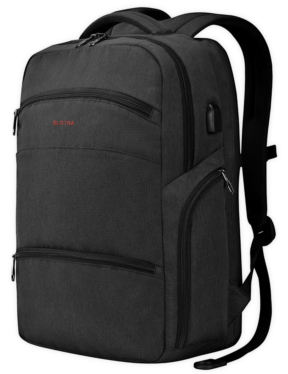 Computer Backpack TSA Friendly ScanSmart Laptop Travel Backpack with Removable USB Charging Port- Fits up to 17 Inch MacBook by Slotra