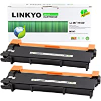 2-Pack Linkyo Compatible Toner Cartridge Replacement for Brother TN660 TN-660 TN630