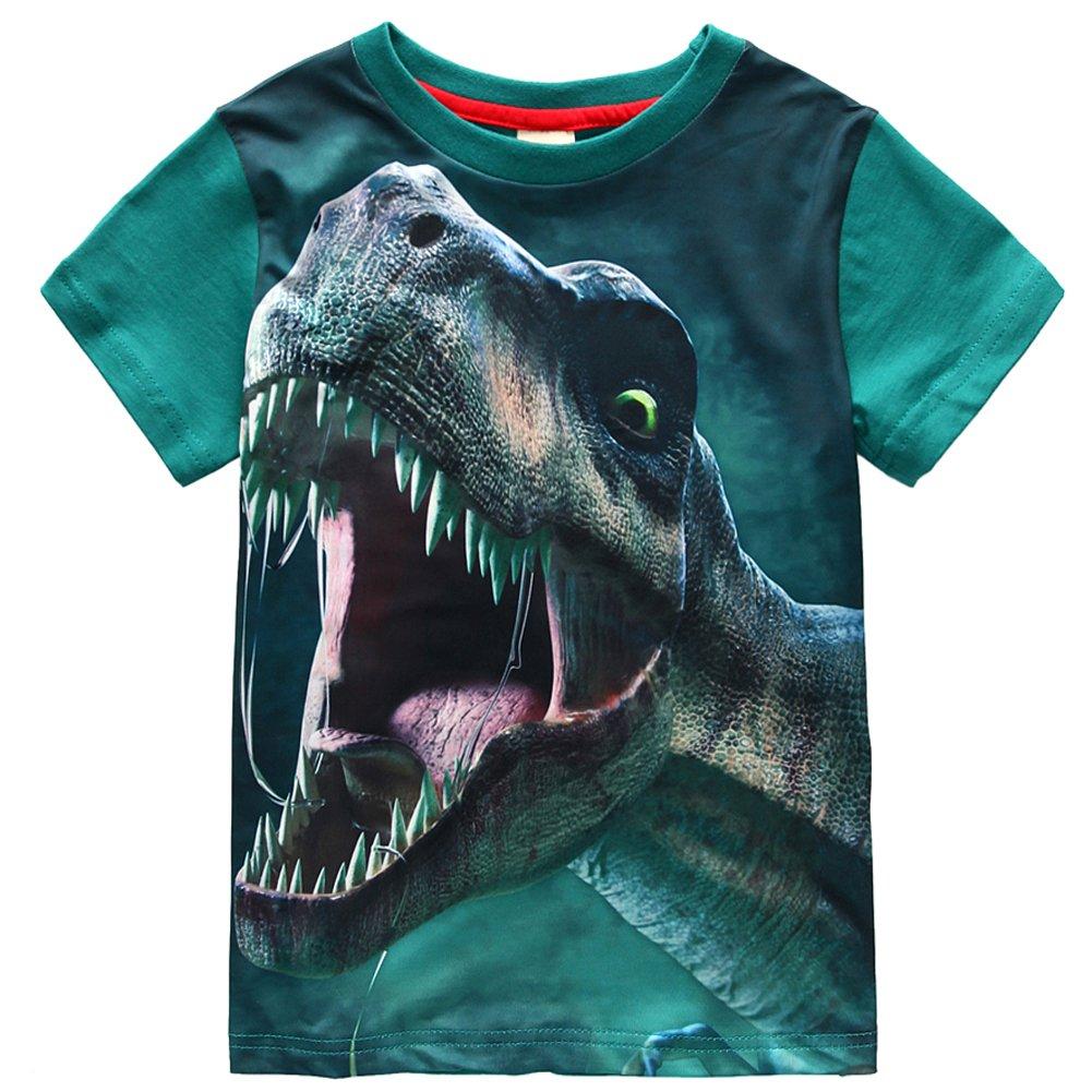 Frogwill Toddler Boys Dinosaur Park Short Sleeve 3D T-Shirt 7t