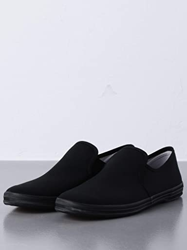 Canvas Slip On Sneakers 1331-599-8293: Black