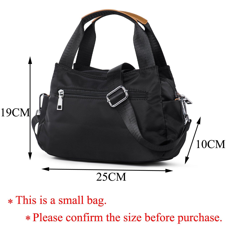 f9f162287d7ee Katloo Stoff Damen Schultertasche Hobo Umhängetasche Handtaschen Tasche mit  Griff für Frauen Mädchen Shopper Datierung Arbeit (Schwarz)  Amazon.de   Koffer