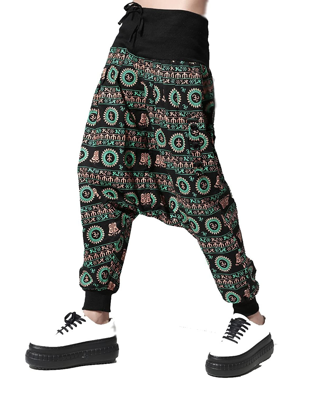 MeMoreCool Women Baggy Harem Pants Low Crotch Pants Spring Summer Hip Hop Pants