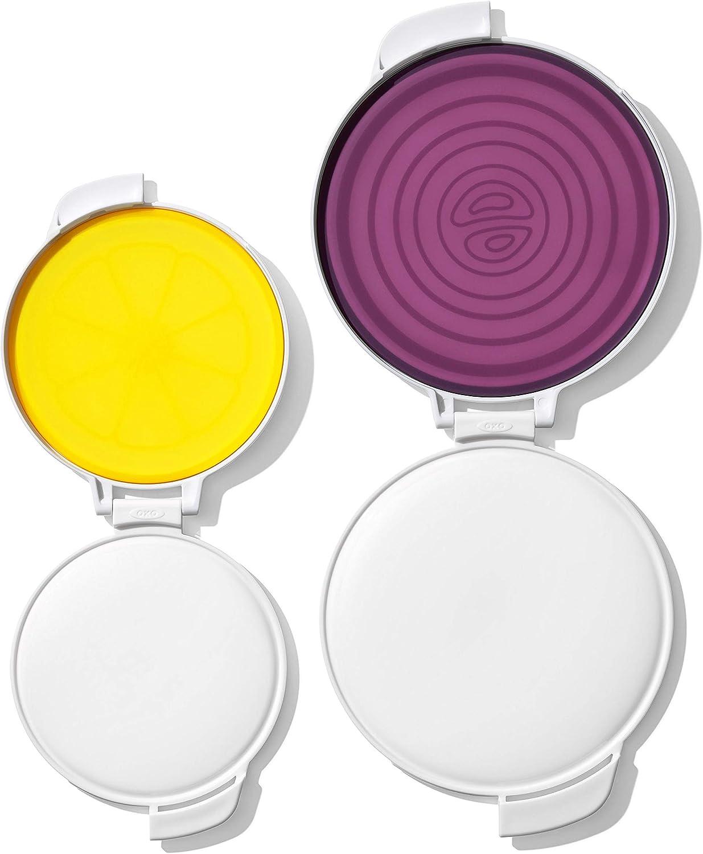 OXO Good Grips Cut & Keep Produce Saver Set, Onion/Lemon,Multicolor,Lemon/onion