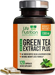 Green Tea Extract 98% Standardized EGCG for Natural Weight Support 1000mg - Supports Heart Health, Metabolism & Energy with Antioxidants & Polyphenols - Gentle Caffeine, Made in USA - 120 Capsules