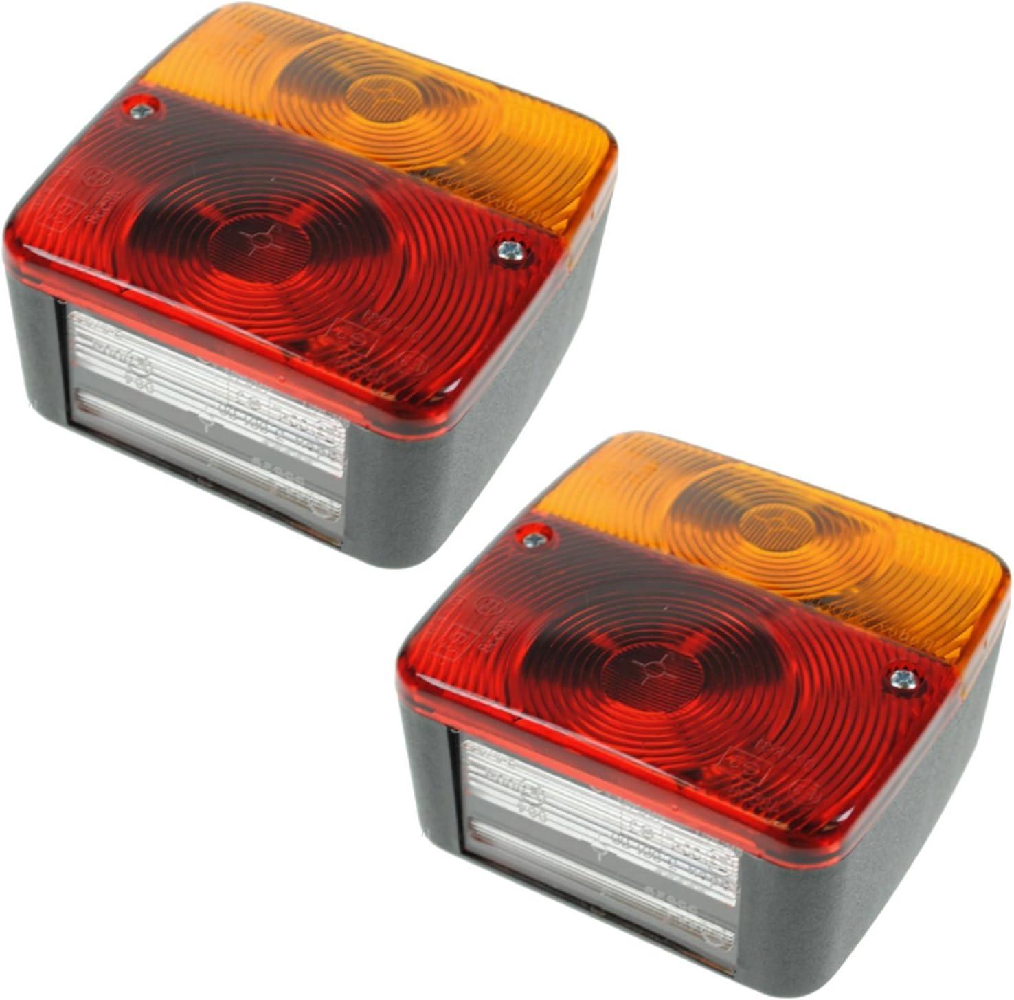 Quadratische Rücklichter Für Anhänger Oder Wohnwagen 4 Funktionen 2 Stück Auto