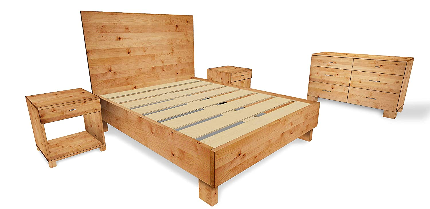 Amazon Com Rustic And Reclaimed Wood Style 5 Piece Bedroom