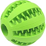 IQ Treat Ball for Dogs and Cats [Dental Treat][Anxiety Relief] Durable Non-Toxic Strong Tooth Cleaning Dog Feed Ball for Pet IQ Training/ Chewing/Playing, Dog Chew Toys (7cm, Green)