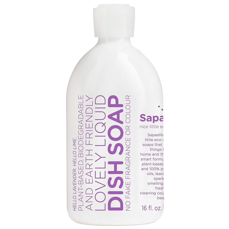Sapadilla Sweet Lavender + Lime Biodegradeable Liquid Dish Soap, 16 Ounce