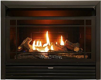 Silver Black ProCom FIB100 Dual Fuel Fireplace Blower Large