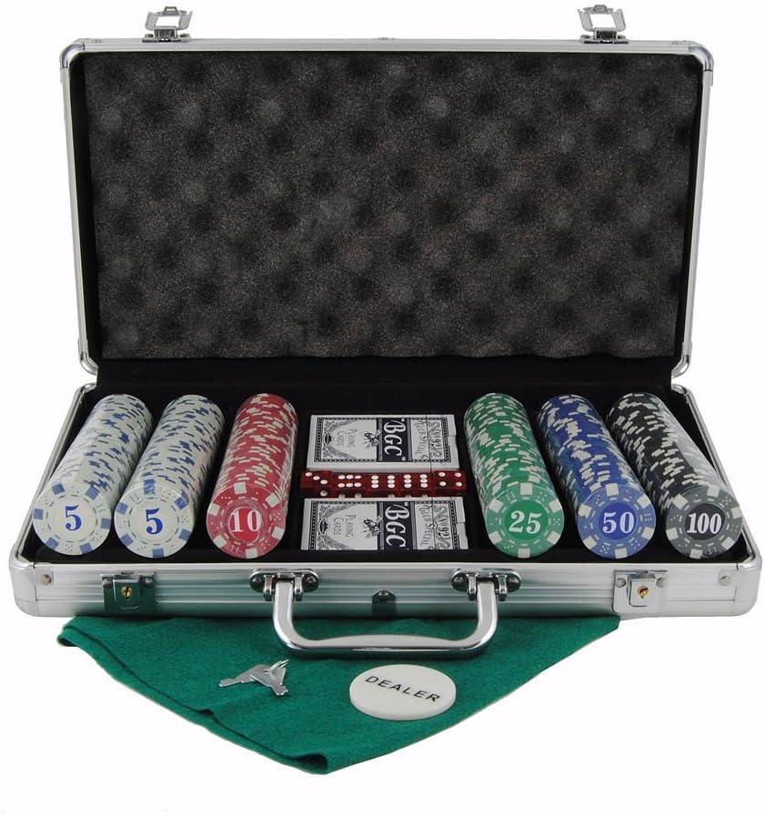 Maletin de poker en aluminio de 300 fichas: Amazon.es: Juguetes y juegos