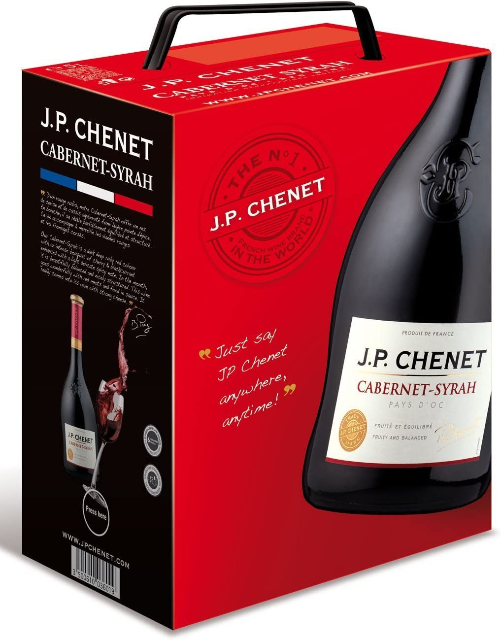 Jp Chenet Cabernet Syrah 5l Bag In Box Amazon Co Uk Grocery