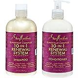 Shea Moisture Superfruit Complex 10-in-1 Hair Growth Renewal System Shampoo & Conditioner Marula Oil and Biotin 13 fl oz each